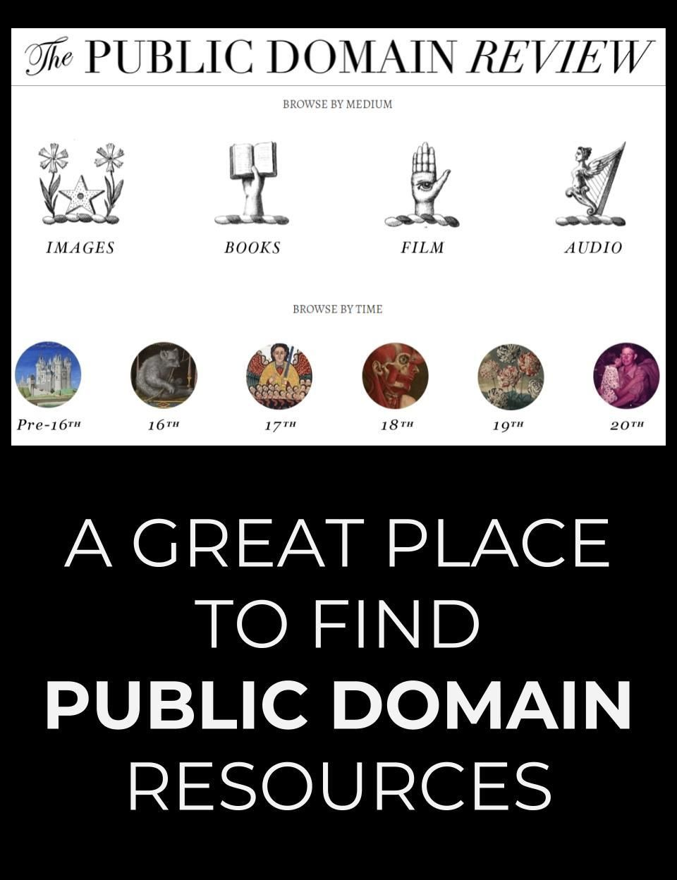The Public Domain Review is a website that features