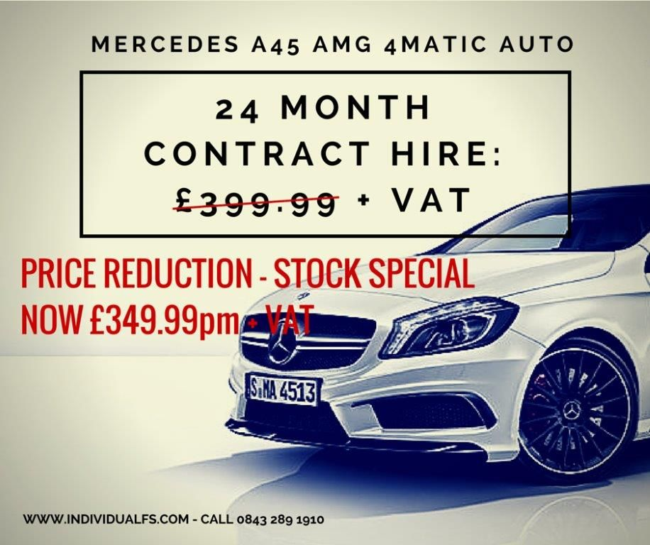 Mercedes A45 Amg Reduced Monthly Rental Vehicle Leasing