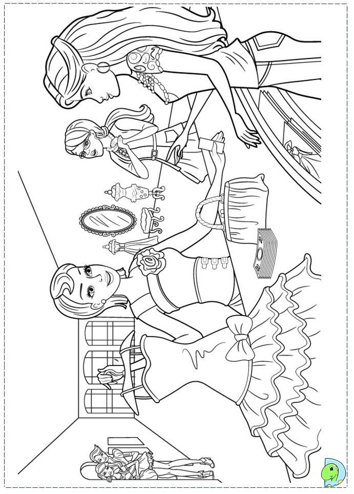 Barbie Coloring Pages Fashion Fairytale Free Online Printable Sheets For Kids Get The Latest