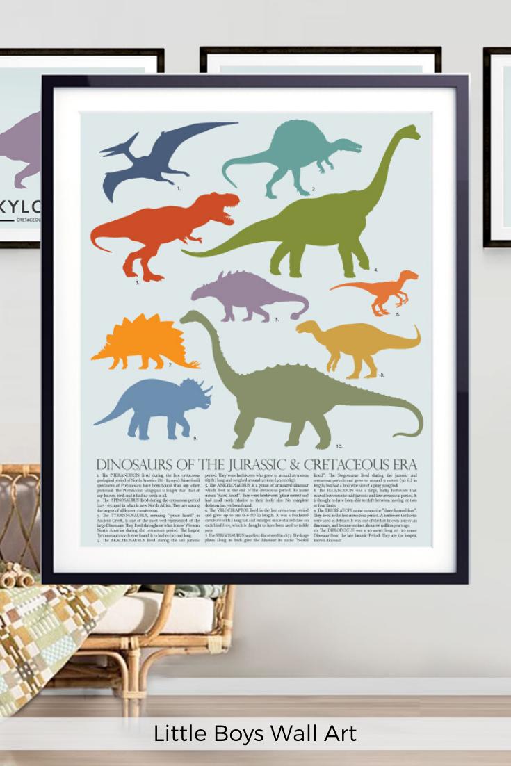 Dinosaur Poster Kids Chart Printable Jurassic Decor Dinosaur Theme Nursery Classroom Decor Toddler Boys Wall Art Educational Poster In 2020 Boy Wall Art Dinosaur Posters Educational Wall Art