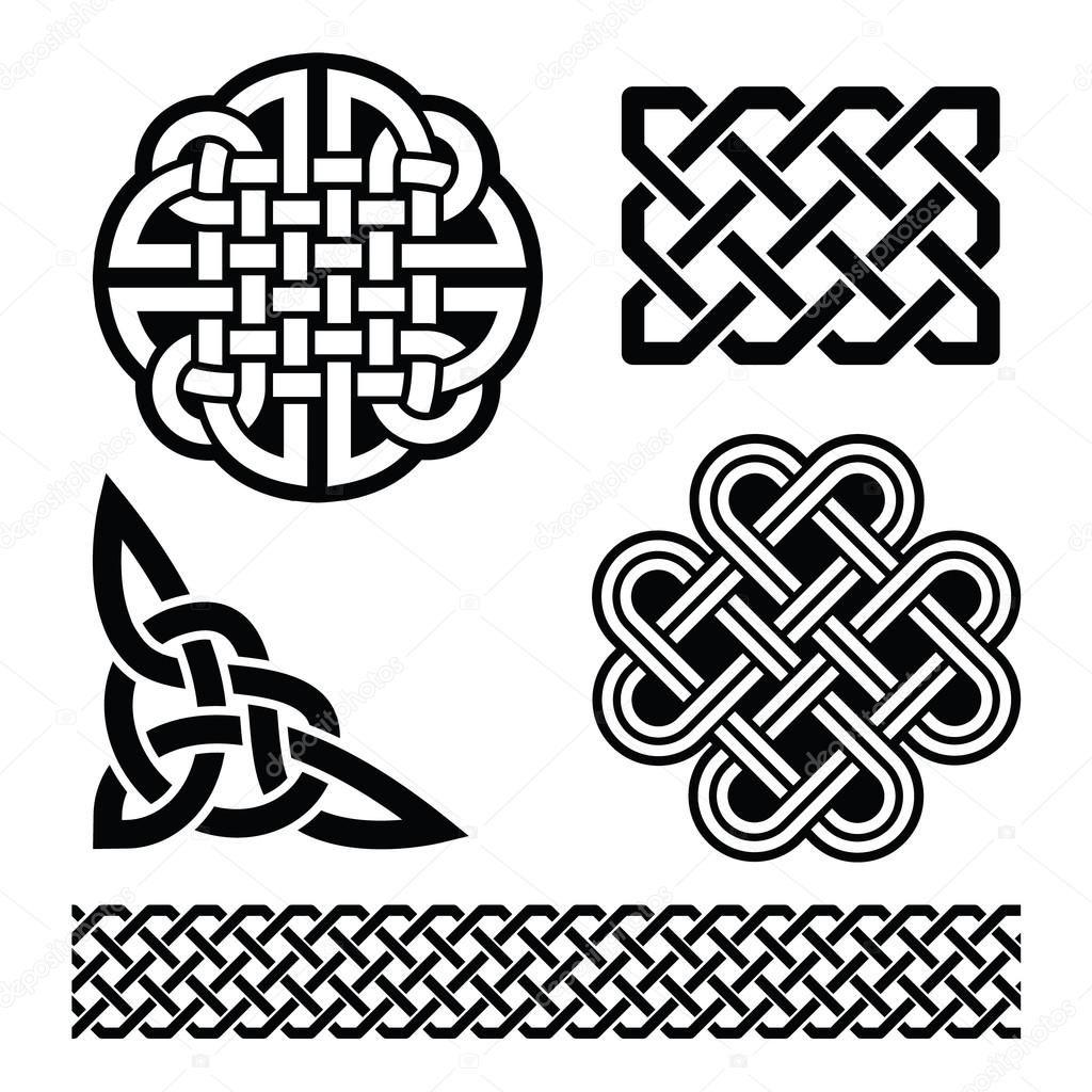 Resultado de imagen de vectores nudos celtas | HOJAS DECORADAS ...