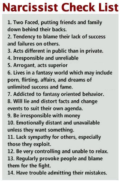Relationship traits narcissistic Narcissistic Personality