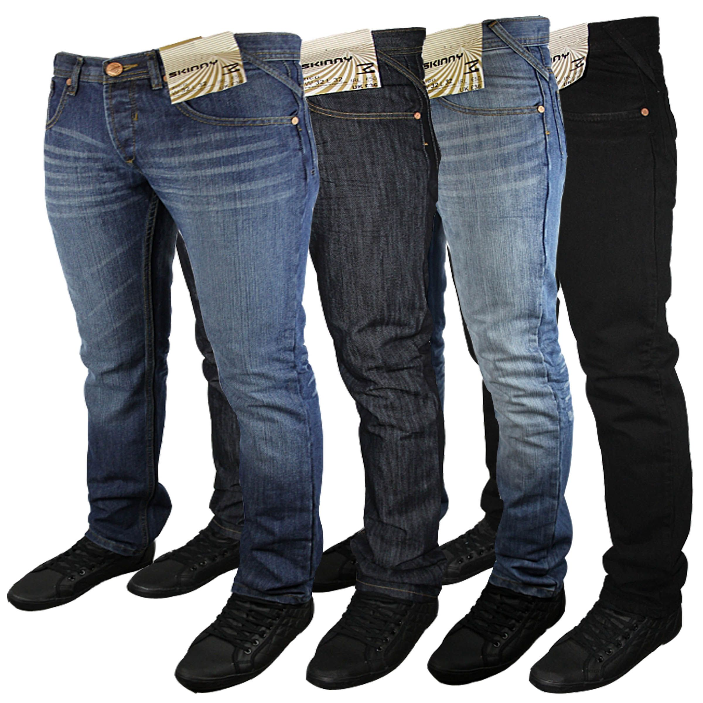 b0eb4b631 Details about Mens Designer Brand Stretch Skinny Slim Fit Denim ...