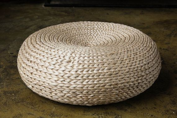 Terrific Round Rustic Floor Cushions Wedding T Floor Pouf Straw Gamerscity Chair Design For Home Gamerscityorg