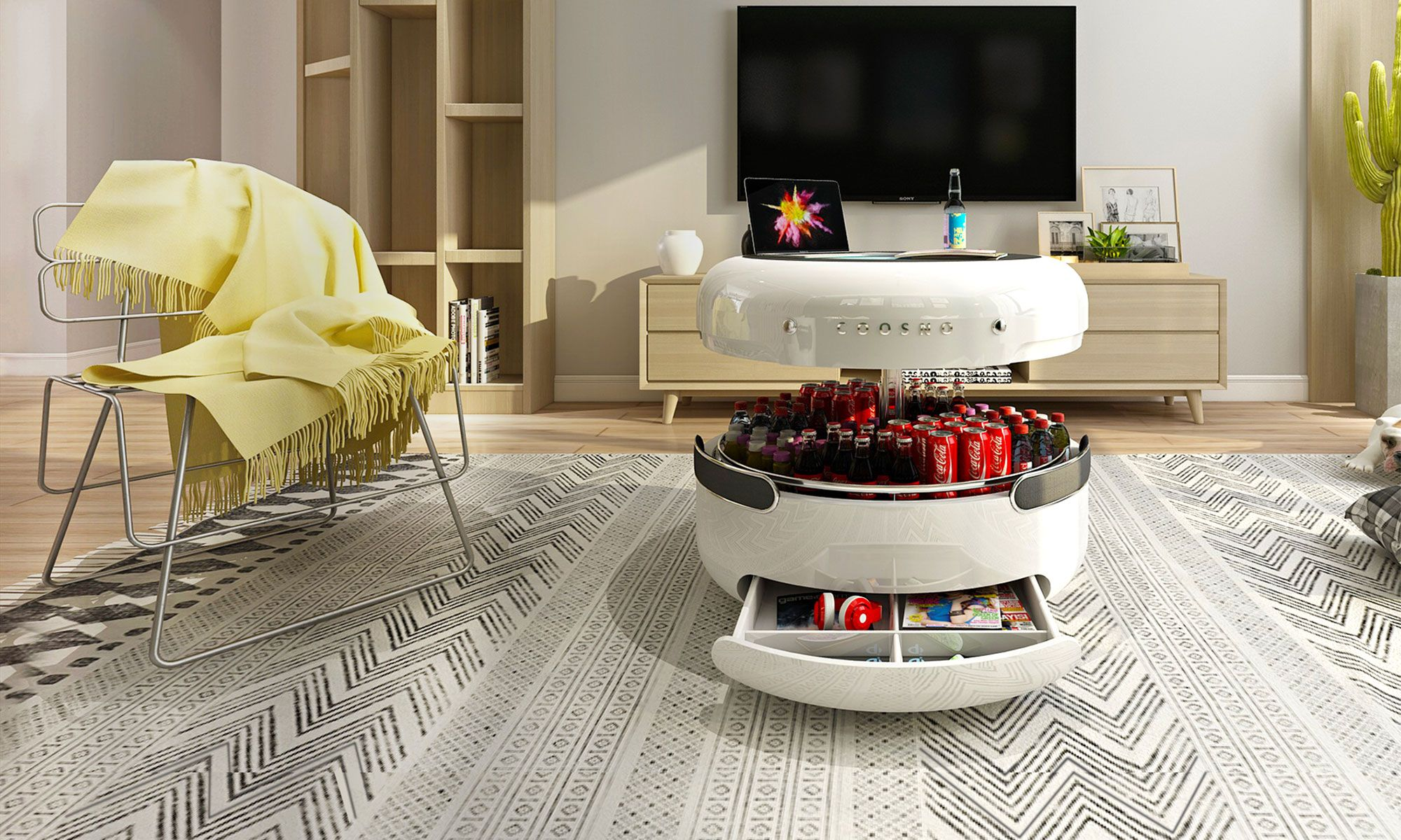 Coosno Refrigerator Coffee Table Hybrid Coffee table, Table