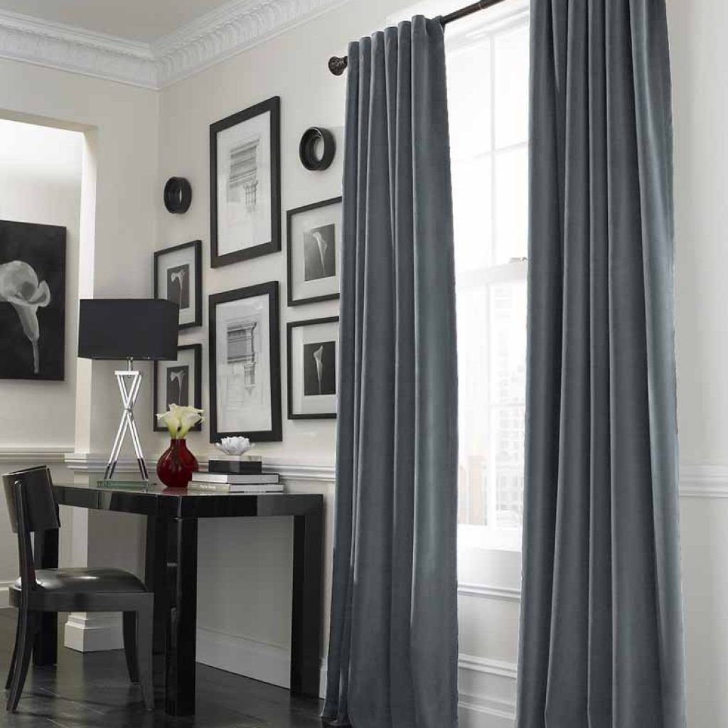 Black And Grey Living Room Curtains Curtain Designs For Bed