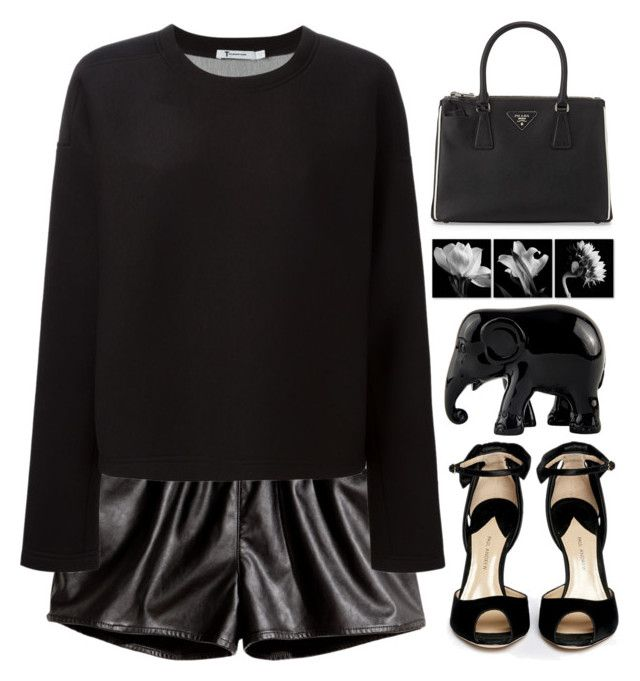 """""""we never go out of style"""" by itajansen ❤ liked on Polyvore featuring H&M, T By Alexander Wang, Paul Andrew, The Elephant Family and Prada"""