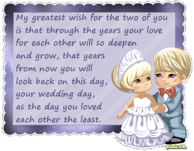 to my niece and soon to be husband brandon may