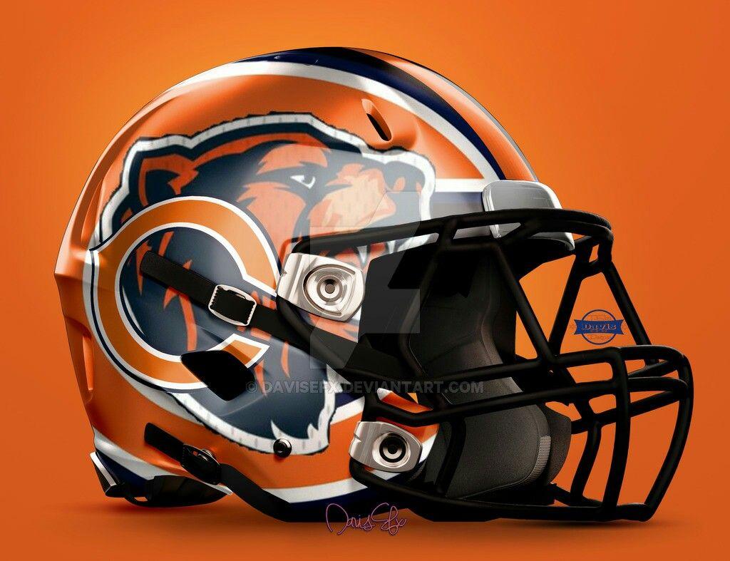 Modern Bears Chicago Bears Helmet Football Helmets Nfl Bears
