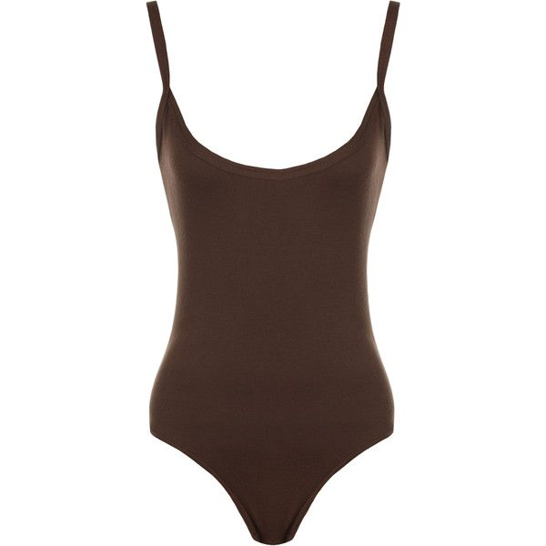 Jillian Plain Strappy Bodysuit ( 11) ❤ liked on Polyvore featuring  intimates 96f717cf638d