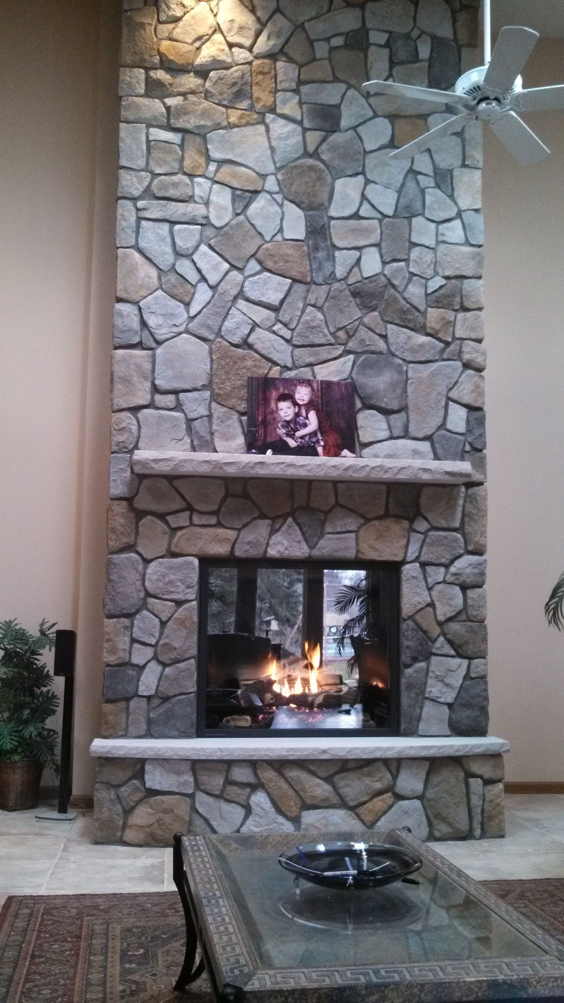 Aspen dressed fieldstone by boral cultured stone with for Stone fireplace hearth prices