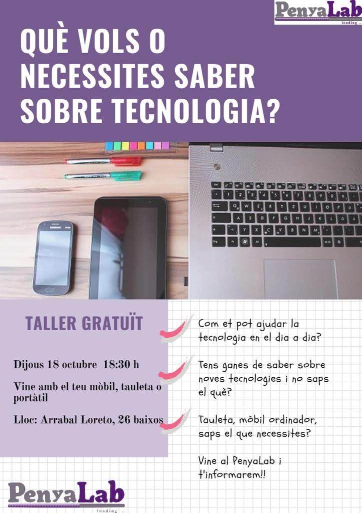 TALLER: Què vols saber sobre tecnologia?