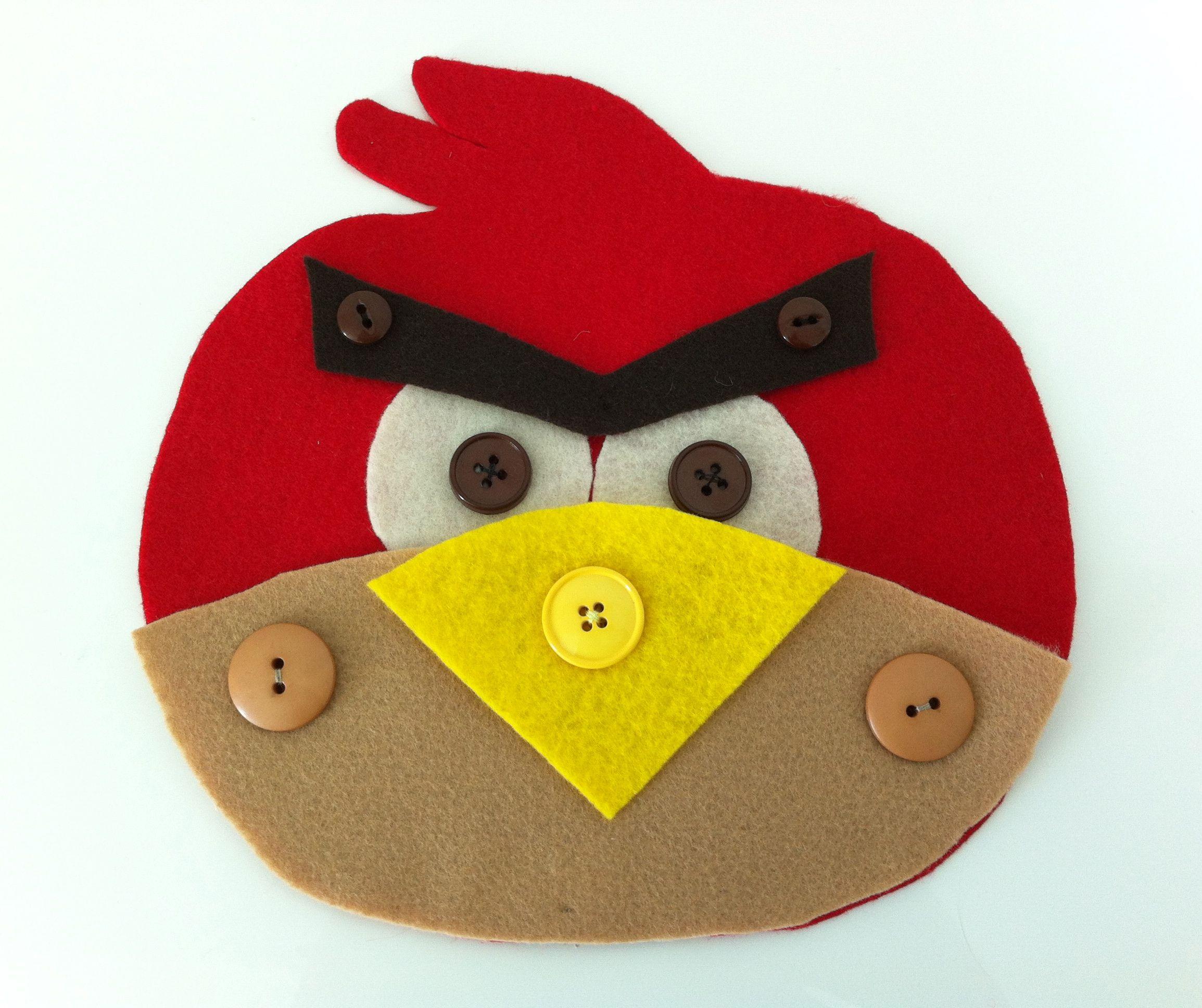 Angry Bird Buttoning
