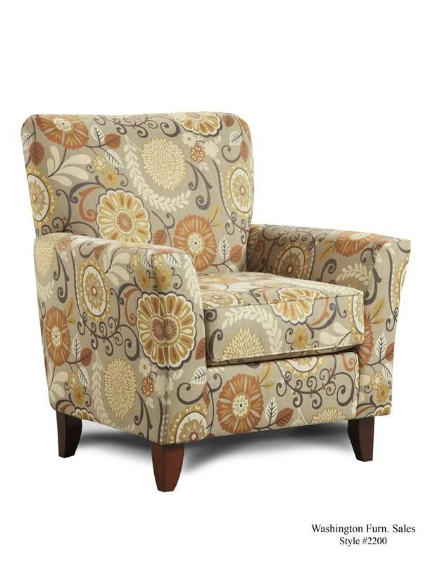 Swell Floral Print Accent Chair Living Room Accent Chairs Ncnpc Chair Design For Home Ncnpcorg
