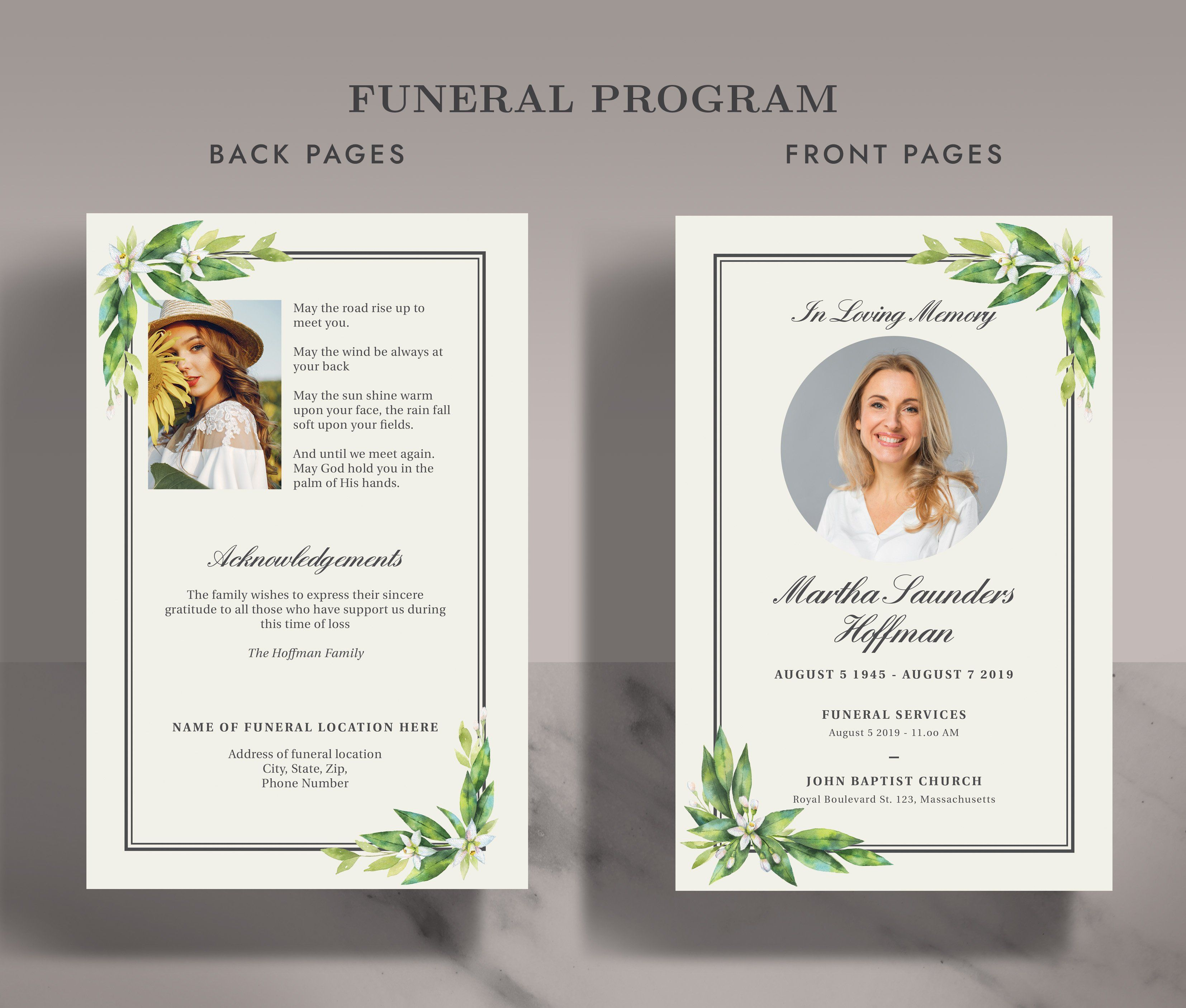 Funeral Memorial Card Program Fp002 Memorial Cards For Funeral Memorial Cards Funeral Memorial
