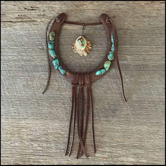 Horseshoe & Turquoise Decor, Decorated Horseshoe, Cowgirl ...