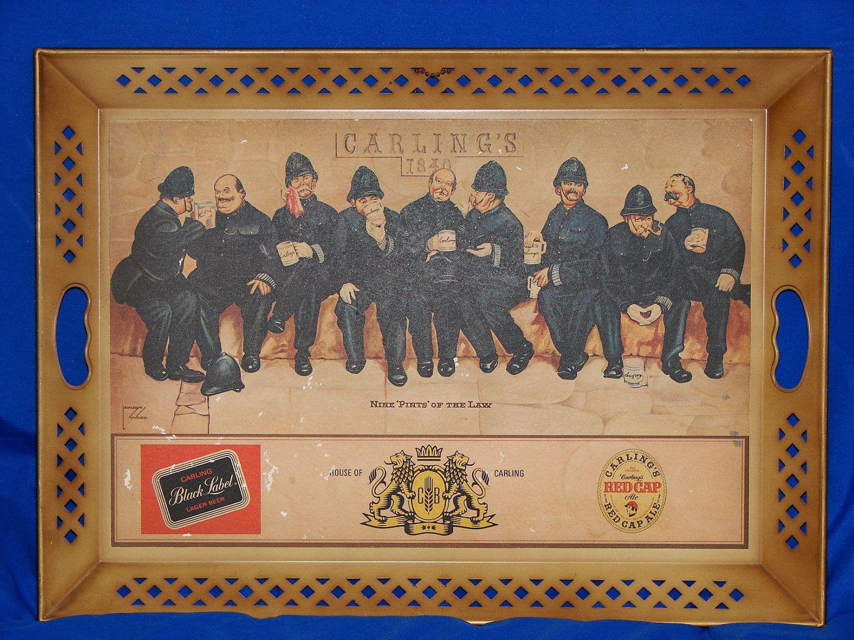 """Nine """"PINTS"""" of the law Policemen vintage Carling beer"""
