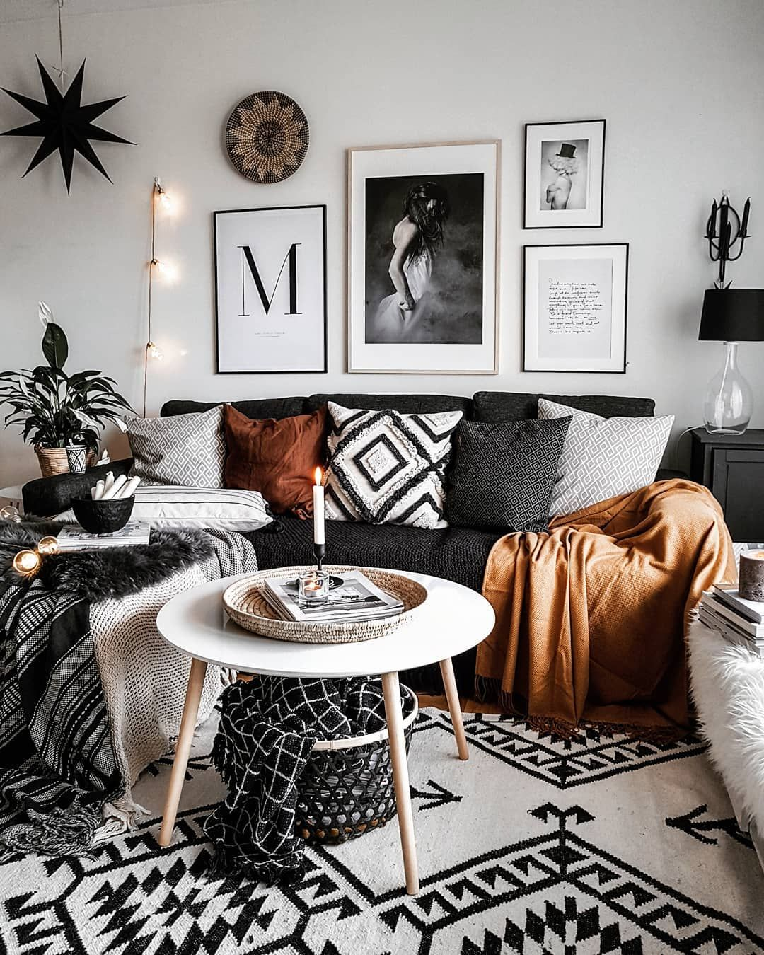 Best Monochrome Bohemian Scandi On Instagram Bohemian Living Room Decor Boho Living Room Room 400 x 300