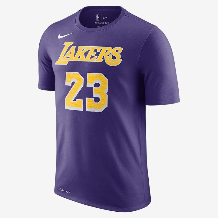 Lebron James Lakers Nike Dri Fit Nba T Shirt Nike Com In 2020 Nba T Shirts Los Angeles Lakers Player Tees