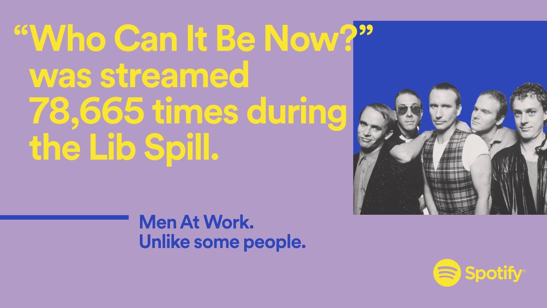 Spotify — 2018 Wrapped — Men At Work Working man, Men