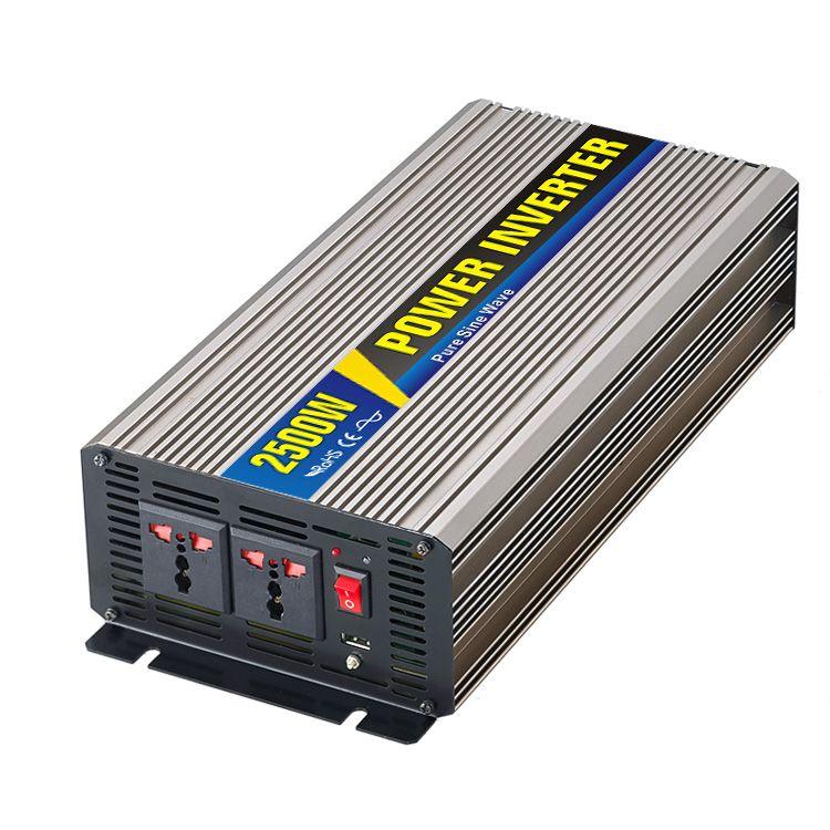 2500W Pure Sine Wave Solar Power Inverter Household Car Power ...