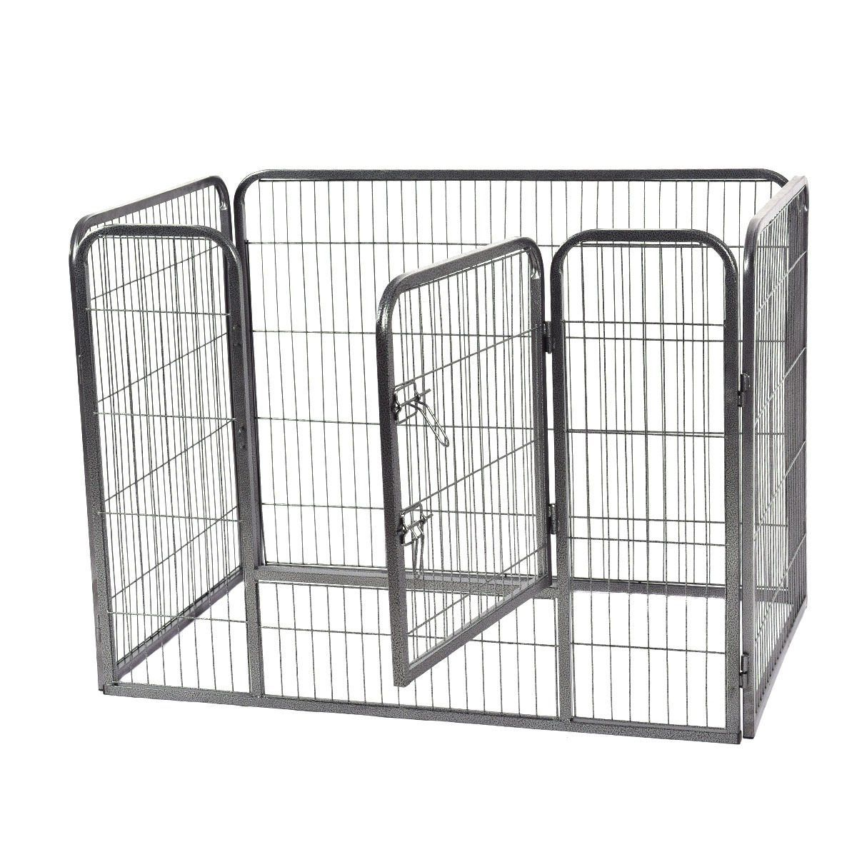 74a8903ab44 Safstar Metal Pet Playpen Exercise Pen for Dogs Cats Heavy Duty Folding Out  Door Fence 4