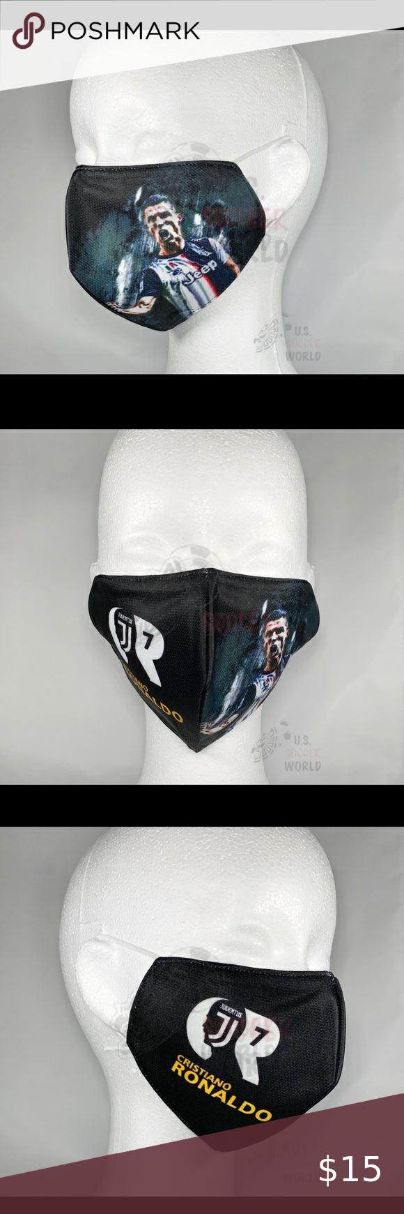 Ronaldo 7 Soccer Face Mask Juventus Cr7 Fashion In 2020 Ronaldo Soccer Guys And Girls