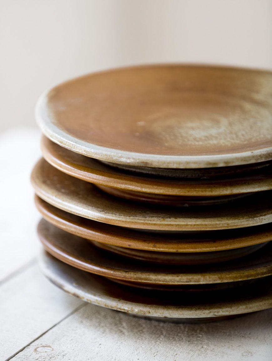 rustic stoneware plates from two potters studio vermont | dinnerware + tableware & rustic stoneware plates from two potters studio vermont ...