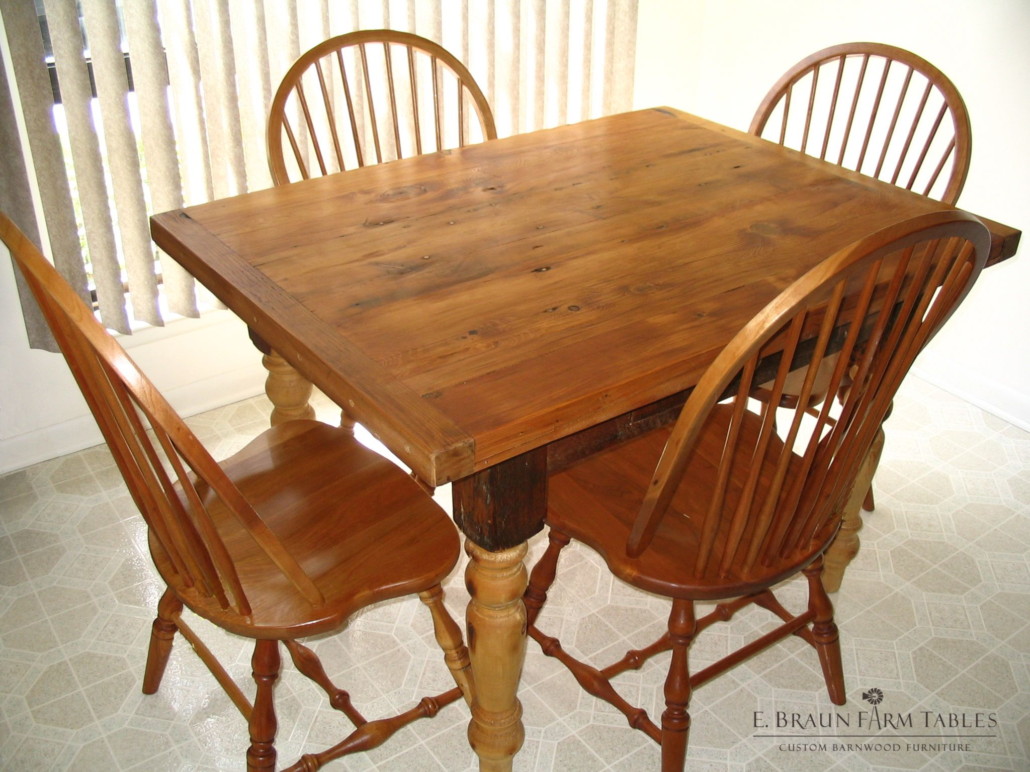 Small Square Wood Dining Table Crafted