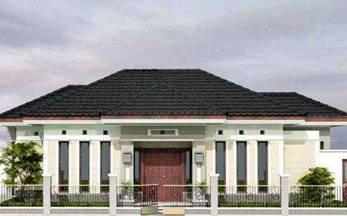 Desain Rumah Mewah Minimalis Modern 1 Lantai Cek Bahan Bangunan