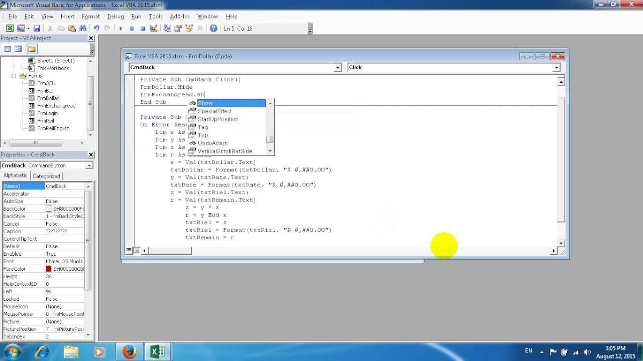 Create Code Back in Excel VBA Button Dollar Coding