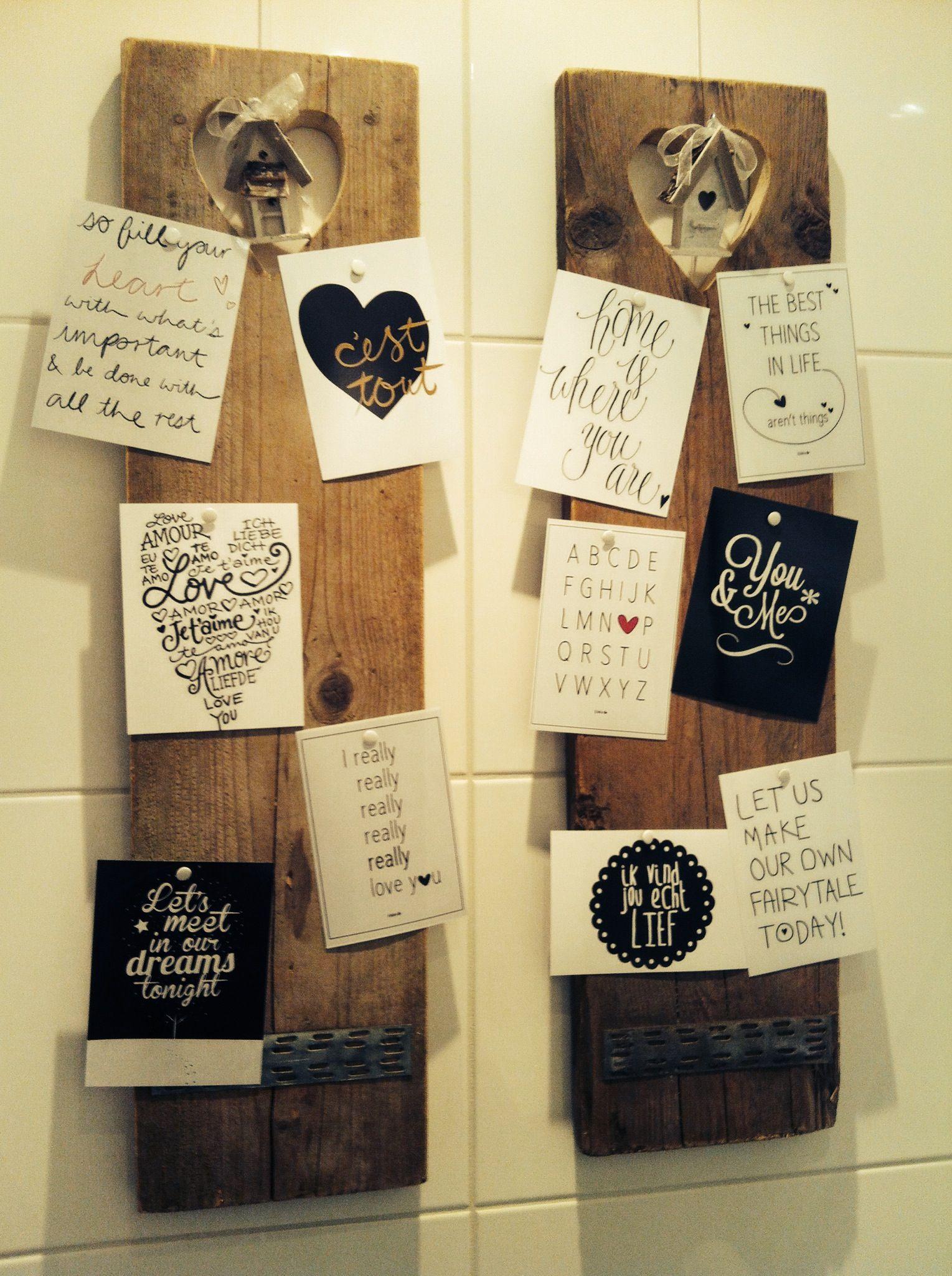 Onze toilet gepimpt super idee n voor het huis pinterest toiletten - Decoratie van toiletten ...