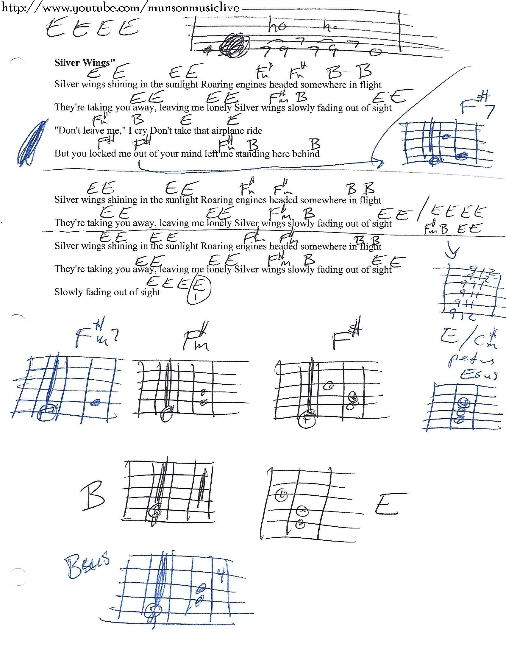 Silver wings merle haggard guitar chord chart in e guitars and silver wings merle haggard guitar chord chart in e hexwebz Image collections