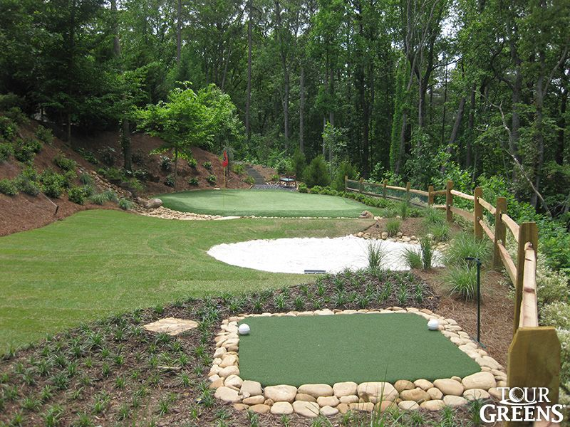 Backyard Golf Course Design we provide your with a golf course quality artificial backyard putting golf green for your denver Pix For Phil Mickelson House Practice Facility
