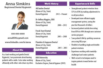introducing the dental hygiene resume postcard this merges the ability to get more of your information into the hands of employers that they are likely