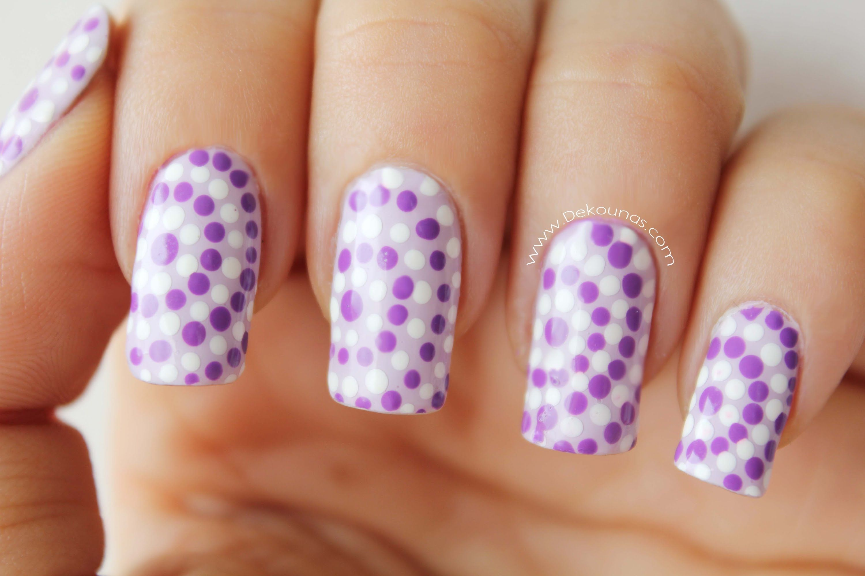 Decoración de uñas lunares - Easy dots nail art | Decoración de Uñas ...