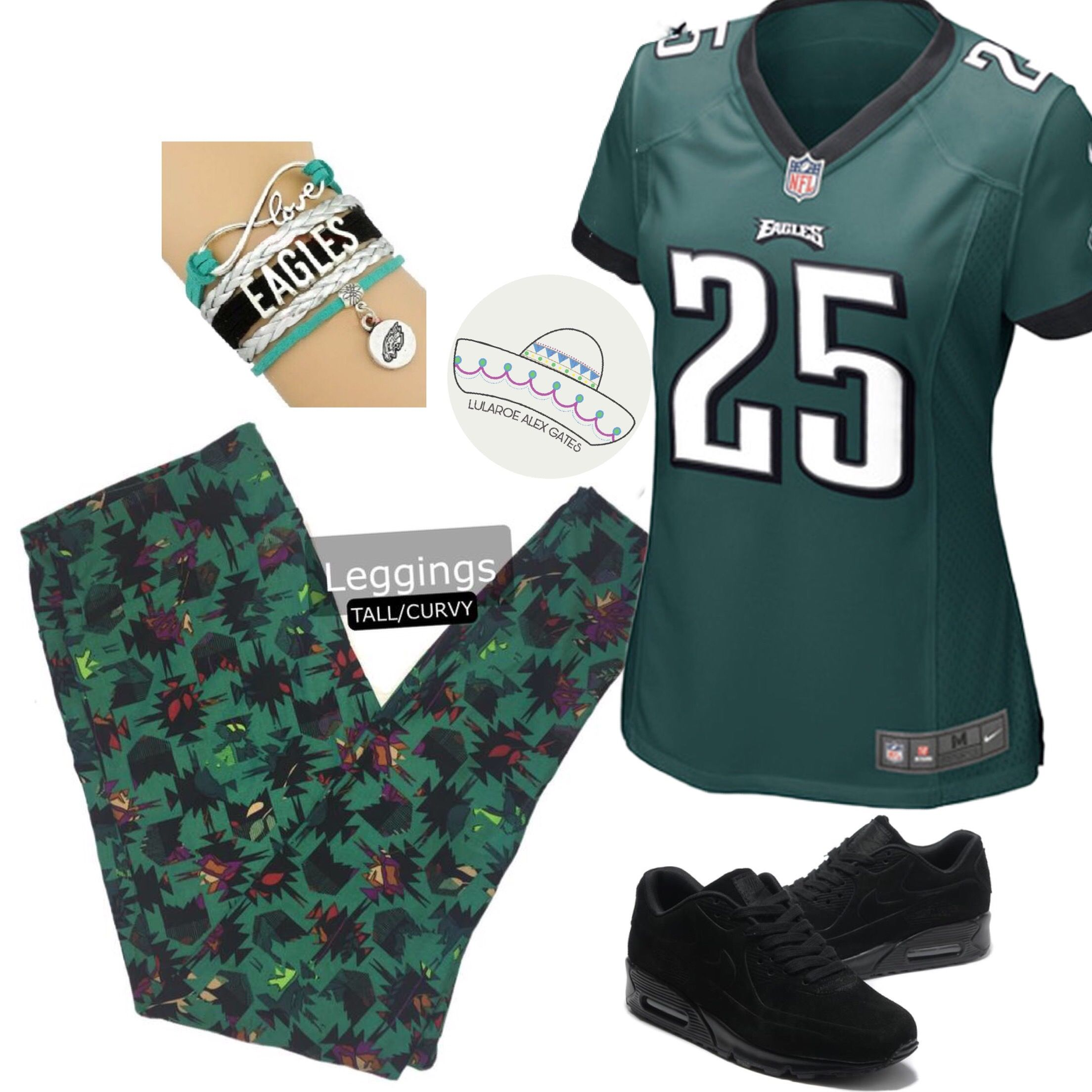 sneakers for cheap a1199 43fce Philadelphia Eagles Outfit. Super Bowl Outfit. Eagles Jersey ...