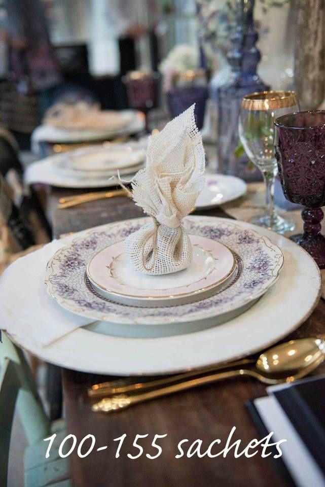 Dried Lavender Potpourri Sachet Baby Bridal Shower Favors