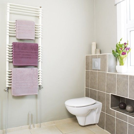 Soft pink bathroom | Neutral bathroom