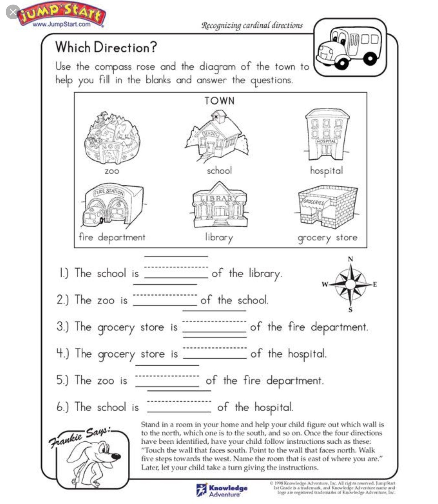 Pin By Kat Lightsey On Homework Social Studies Worksheets Kindergarten Social Studies Map Worksheets