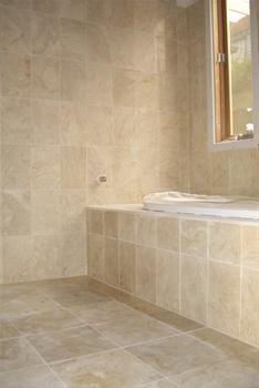 Sandstone Bathroom Google Search Bathroom Corner Bathtub