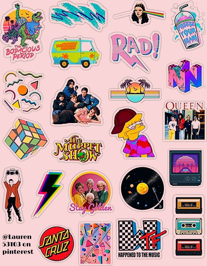46 Mini Vaporwave Stickers 90s Aesthetic Crafts Journal Laptop Phone Sticker