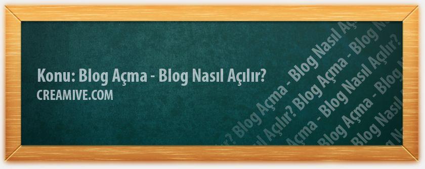 Blog Açma - Blog Nasıl Açılır? WordPress, Blogspot, Wix, Blogcu ve benzeri birçok servis bulunmaktadır. SEO açısından çok az da olsa Blogspot bizce önde görünüyor. WordPress'te takip özelliği var ama Blogspot'ta işler biraz da hızlı yürüyor. https://www.creamive.com/blog-acma