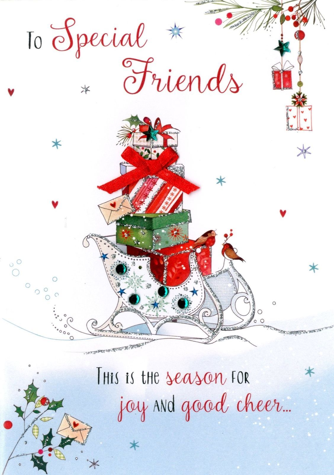 £2.99 GBP Special Friends Embellished Christmas Card