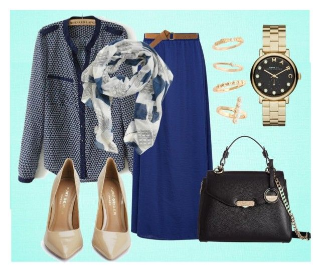 """Hijab Look 036"" by merlyana-dwi-hapsari on Polyvore featuring Viyella, MANGO, Versace, Kurt Geiger, Marc by Marc Jacobs and BP."