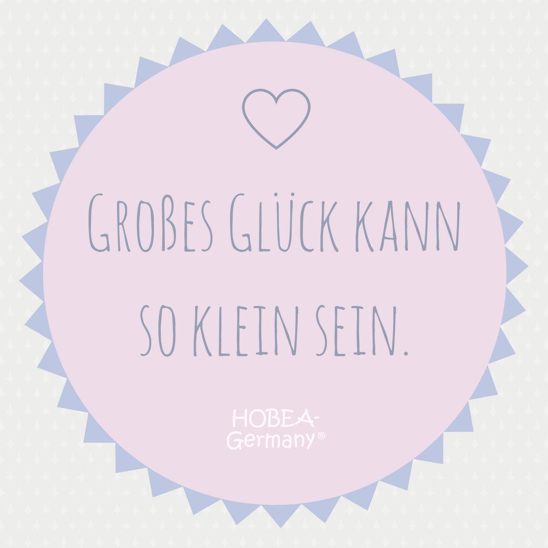 Großes Glück kann so klein sein! #spruchbild #familie #quote