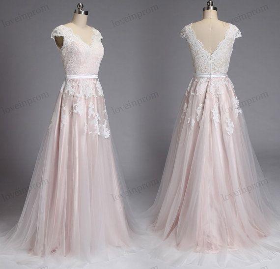 Vintage Sommer Strand Brautkleid, Boho angeschnittene Ärmel Spitze ...