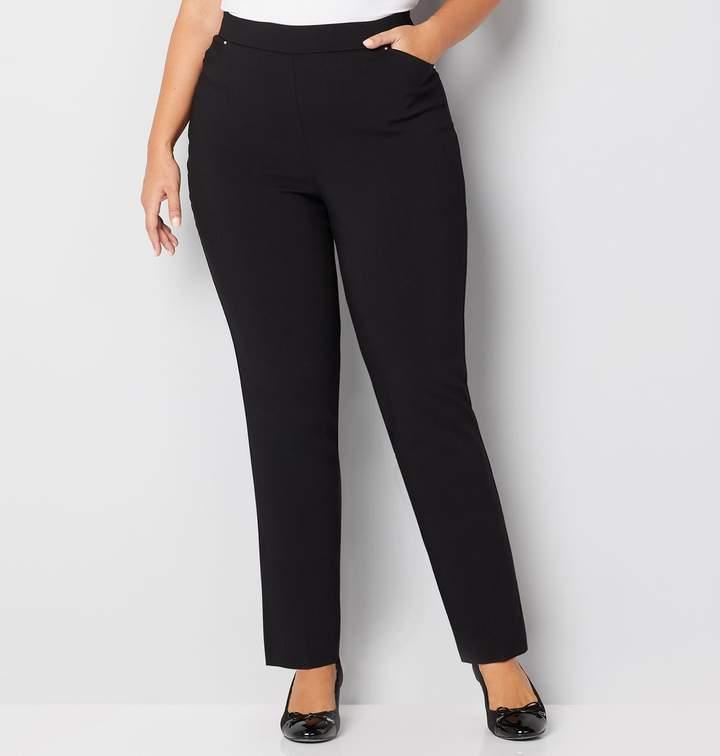 1f0cbc76f3d Avenue Super Stretch Cateye Pull-On Pant in Black
