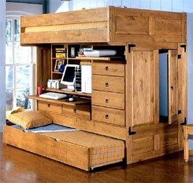 Fantastic Rustica Full Over Twin Bunk Trundle Desk Chair Review At Frankydiablos Diy Chair Ideas Frankydiabloscom