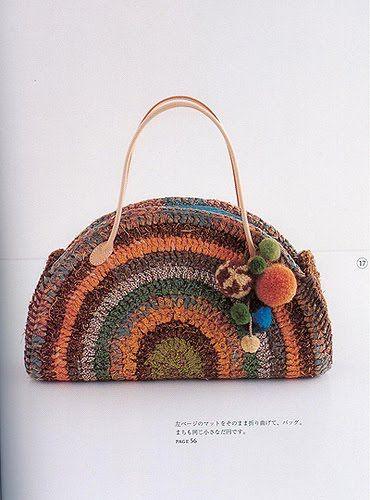 5b9423991 bolsa meia lua - Pesquisa Google | bags | Yarn bag, Crochet handbags ...